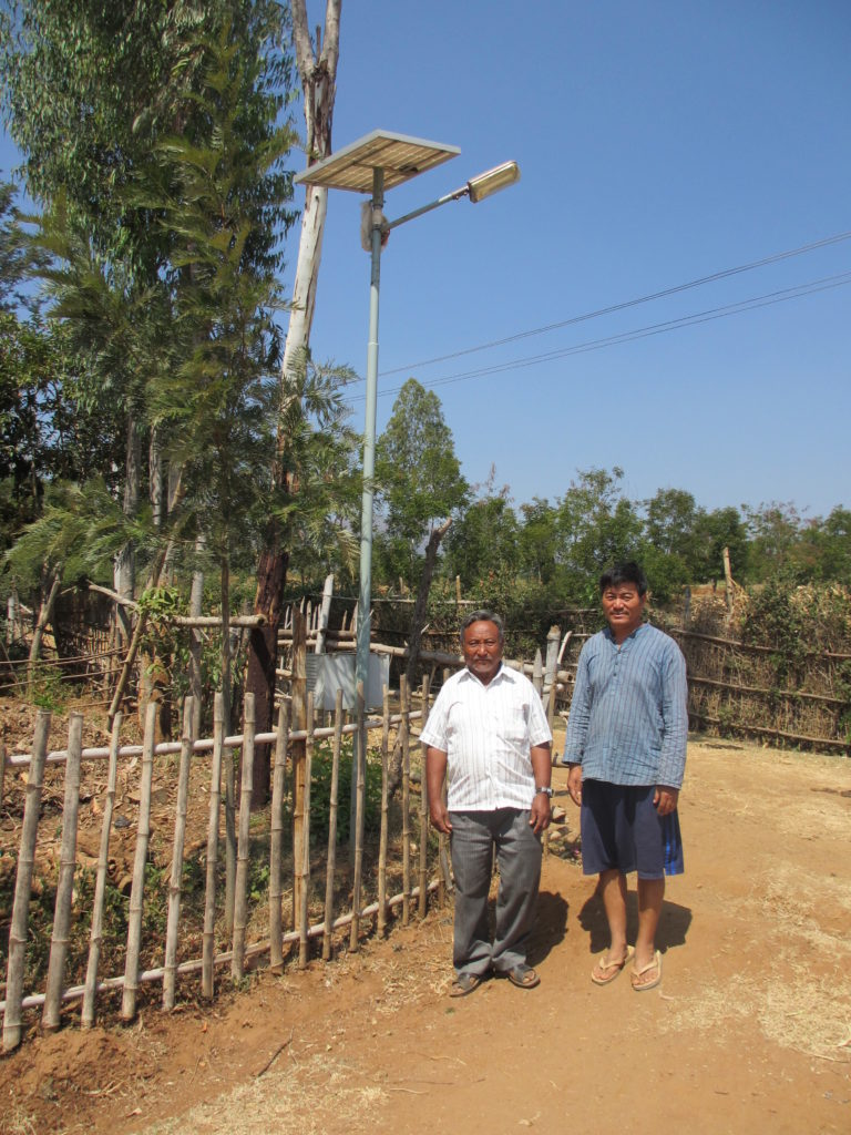 Solar street light, Kollegal Settlement, South India